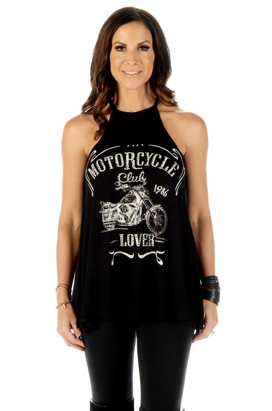 Liberty Wear Tank: Motorcycle Lover Club Black