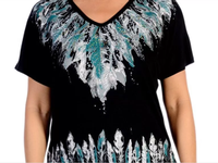 Liberty Wear T-Shirt: Many Feathers Black S-4XL