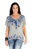 Liberty Wear T-Shirt: Many Feathers Grey S-4XL