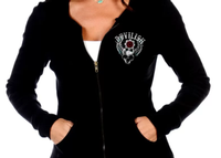 Liberty Wear Top: Zip Up Hoodie Devilish