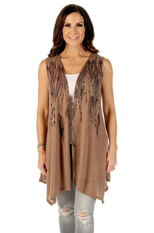 Liberty Wear Vest: Feathers & Beads