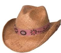 Bullhide Hats Lil' Pardner Collection: Raffia Daughter of the West Natural S/M, L/XL