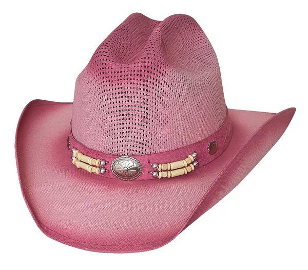 Bullhide Hats Lil' Pardner Collection: Linen Little Goodbye Pink One Size