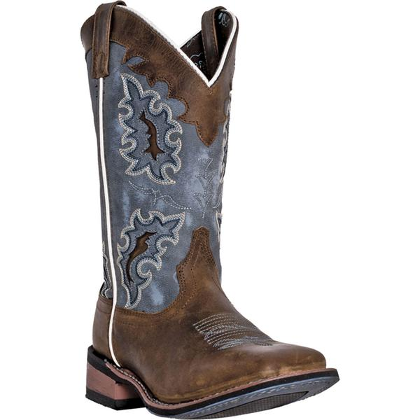 Ladies' Dan Post Boots Western Laredo: Ilsa Tan Distressed Square Toe M 6-10