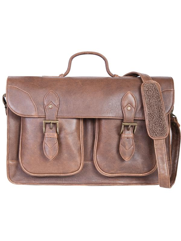 Scully Luggage Leather: 81st Aero Squadron Airborne Collection 2 Gusset Workbag