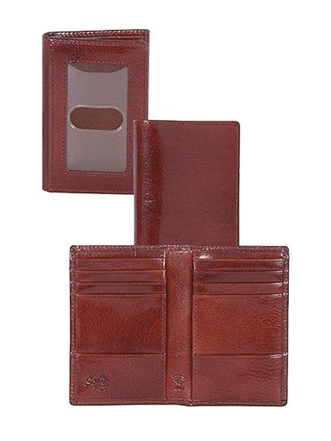 Scully Leather Accessory: A RFID Wallet Pocket Size Mahogany
