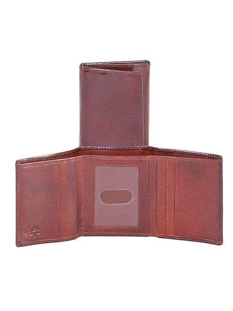 Scully Leather Accessory: A RFID Wallet Trifold Mahogany