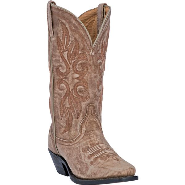 Ladies' Dan Post Boots Western Laredo: Maricopa Crackle Goat Tan Square Toe M 6-10