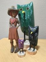 Navajo Folk Art: Edith John Owl XSmall Purple