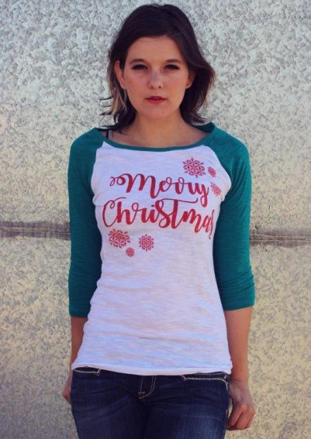 Original Cowgirl Clothing: A Tee Baseball Merry Christmas