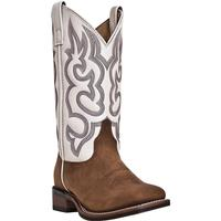 Ladies' Dan Post Boots Western Laredo: Z Stockman Mesquite Taupe Square Toe M 6-10, 11