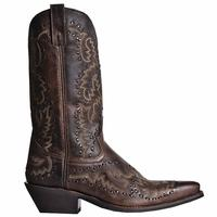 Men's Dan Post Boots Laredo Western: Midnight Rider Brandy Snip Toe D, EW 7-12, 13