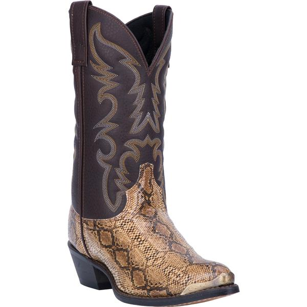 Men's Dan Post Boots Laredo Exotic Prints: Monty Snake Print Brown