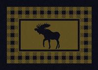 American Dakota Rug: Cabin & Camp Collection Refuge Moose Green 3x4 Scatter Drop Ship