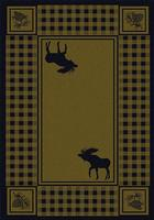American Dakota Rug: Cabin & Camp Collection Refuge Moose Green 5x8 Drop Ship