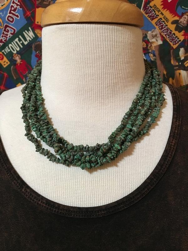 A Two Grey Hills: Five Strand Turquoise Necklace DEAL
