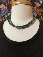 A Two Grey Hills: Green Turquoise Necklace Set DEAL