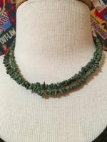 A Two Grey Hills: Green Turquoise Necklace Set SALE