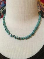 A Two Grey Hills: Blue Turquoise and Heishi Necklace Set DEAL