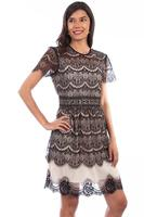 Scully Ladies' Honey Creek Collection Dress: Scalloped Antique Lace