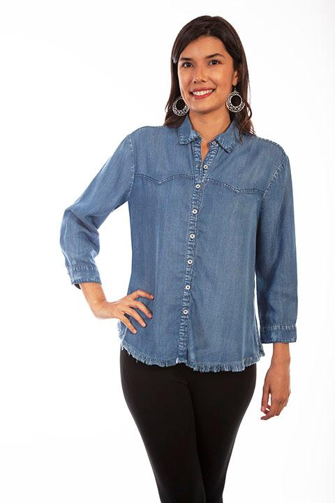 A Scully Ladies' Honey Creek Blouse: Western Style
