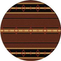American Dakota Rug: Cabin & Camp Collection Old Timer Brown 8' Round Drop Ship