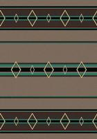 American Dakota Rug: Cabin & Camp Collection Old Timer Turquoise 4x5 Drop Ship