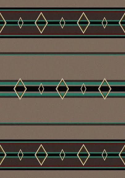 American Dakota Rug: Cabin & Camp Collection Old Timer Turquoise 3x4 Drop Ship
