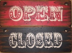 Wall Sign Business Open Closed Large Set
