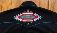 Rockmount Ranch Wear Men's Vintage Western Shirt: A A Native American Inspired  Design Black 2XL