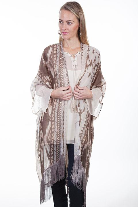 Scully Ladies' Honey Creek Collection Accessory: A Aztec Inspired Kimono