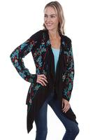 A Scully Ladies' Honey Creek Collection Accessory: Floral Embroidered Jacket Black