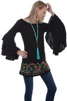 A Scully Ladies' Honey Creek Collection Blouse: Ruffled Sleeve Tunic SALE