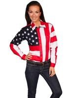 A Scully Ladies' Western Shirt: The Patriot Stars and Stripes XS-2XL