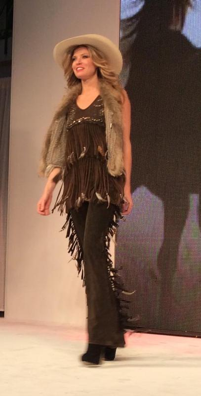 A Pat Dahnke Signature Collection: Distressed Flared Fringe Pant S-L