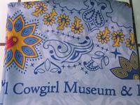 Rockmount Ranch Wear Accessory: Scarf National Cowgirl Hall of Fame Blue