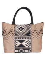 A Scully Cantina Collection Cotton Handbag: A Shoulder Bag Aztec Design