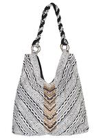A Scully Cantina Collection Cotton Handbag: Shoulder Bag Beaded V