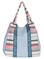 A Scully Cantina Collection Cotton Handbag: Shoulder Bag Floral Design Blue