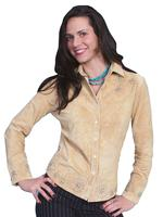 ZSold Scully Ladies' Leather Suede Jacket: Western Suede Shirt with Details Chamois S-XL SOLD