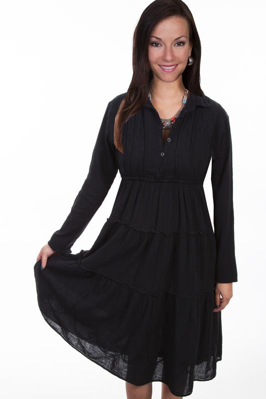 Scully Ladies' Cantina Collection Dress: A Multi Panel Pull Over Style, Black S-XL SALE