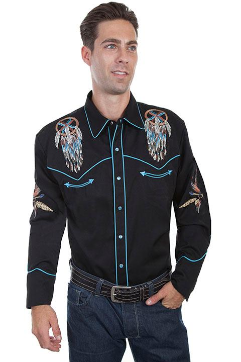 Scully Men's Vintage Western Shirt: A Dream Catcher