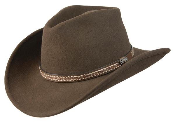 Conner Handmade Hats Cowboy Western Style: Wool with Hat Band Horse Hair Style Brown