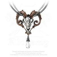 Alchemy Necklace Gothic: Amon-Ra Pendant on Chain