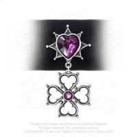 ZSold Alchemy Necklace Gothic: Elizabethan Romance Heart and Cross Choker SOLD