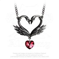 Alchemy Necklace Gothic: Black Swan Romance of the Heart