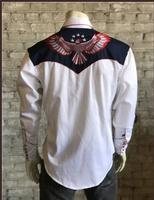 B Rockmount Ranch Wear Men's Vintage Western Shirt: Fancy Show Your Colors w Eagle 2X Backorder