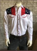 B Rockmount Ranch Wear Men's Vintage Western Shirt: Fancy Show Your Colors w Eagle Backorder