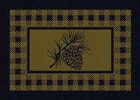 American Dakota Rug: Cabin & Camp Collection Refuge Pine Cone Green 5x8 Drop Ship