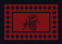 American Dakota Rug: Cabin & Camp Collection Refuge Pine Cone Red 4x5 Drop Ship
